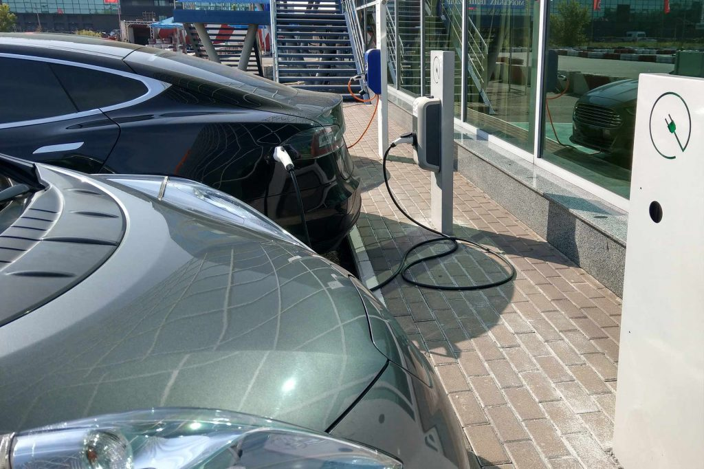 electric car charge point for business